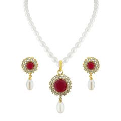 Sri Jagdamba Pearls  Grace Drop Pendant Set  Code JPJUN-16-246
