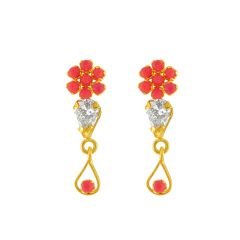 Jpearls  Red  Stone  Earrings