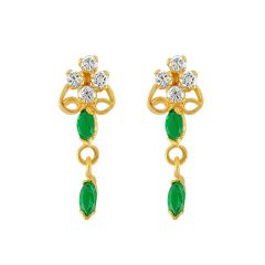 Jpearls  Green Stone  Earrings