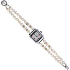 Watches for Women   Round Dial   Analog (Misc) - Sri Jagdamba Pearls Pearly White Dial Pearl Watch-JPNOV-16-016