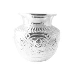 Sri Jagdamba Pearls Dhana Lakshmi Silver Kalash  - JPOCT-10-1017