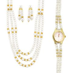 Jpearls Exquisite Necklace Set With Watch - Valentine Gifts For Her