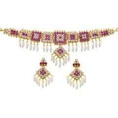 Pearl Necklaces - Sri Jagdamba Pearls monumental choker pearl set  Code JPSEP-16-062