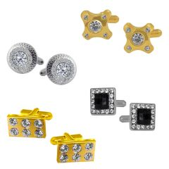 Sri Jagdamba Pearls Set of 4 Cufflinks Hampers - JPV-17-15