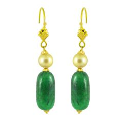 Jpearls Phenomenal Green Emerald Earrings