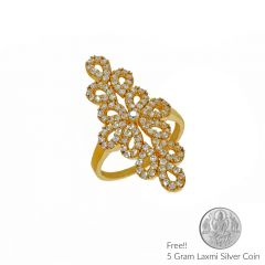 Sri Jagdamba Pearls 22Kt Princess Gold Finger Ring(Code LR 5662)