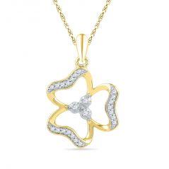 Jagdamba Women's Clothing - Jpearls  18 KT Gold  Lovely Diamond Pendant