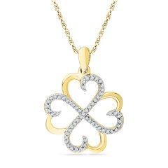 Jpearls 18 Kt Gold Forever Love Diamond Pendant