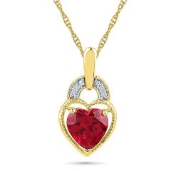 Sri Jagdamba Pearls Mellow Ruby Pendant ( Code-PH101256-LRU )