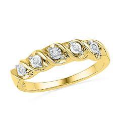 Sri Jagdamba Pearls 5 Pieces Real Diamond Finger Ring-RA026749