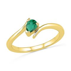 Sri Jagdamba Pearls Emerald Finger Ring ( Code-rf101342-lem ) - Valentine Gifts For Her