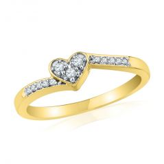 Jpearls  Valentines Day Special 18 KT Gold Diamond Finger Ring