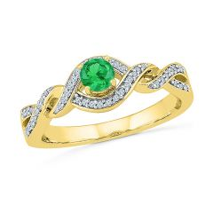 Sri Jagdamba Pearls Reliable Emerald Finger Ring ( Code-RP022940-LEM )
