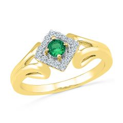 Sri Jagdamba Pearls Lavish  Emerald Finger Ring ( Code-RP102000-LEM )