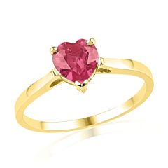 Jpearls 1.10 Carat Ruby Heart Finger Ring - Valentine Gifts For Her