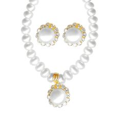 Jpearls Pearl Gold Set