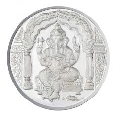 Jpearls 100 Grams Ganesh Silver Coin 99.9 % Purity