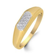 18 KT GOLD SHIMMER DIAMOND FINGER RING (TGR10110377 )