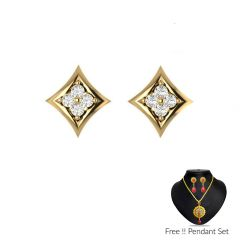 SIMPLE DIAMOND EARRINGS Code-VAET1421RK