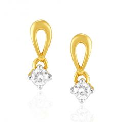 Me-Solitaire Yellow Gold Diamond Earrings IDE00039SI-JK18Y