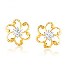 Nakshatra Yellow Gold Diamond Earrings IDE00817SI-JK18Y