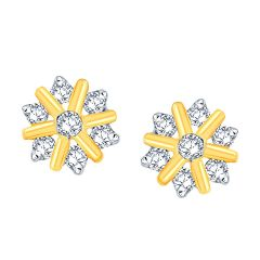 Nakshatra Yellow Gold Diamond Earrings NNPER023SI-JK18Y