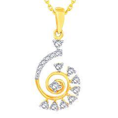 Diamond Jewellery - Gili Yellow Gold Diamond Pendant OPL828SI-JK18Y