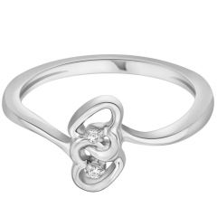 Hoop Silver  Cz Diamond Silver Ring For Women Rf13127