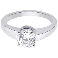 Hoop Silver With Cz Diamond Silver Ring For Womens Re1086