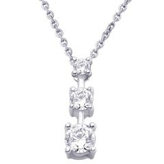 Hoop Silver  Cz Diamond Silver Pendant For Women Pf4099