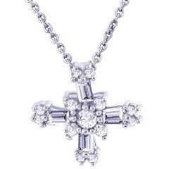 Hoop Silver  Cz Diamond Silver Pendant For Women Pf4710
