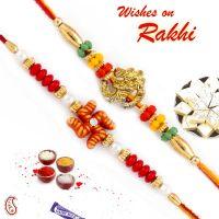 Rakhi Gifts For Brother pst16220._buy-rakhi-online-rakhi-gifts-set-of-2-pearl-emebllished-red-and-green-beads-rakhi