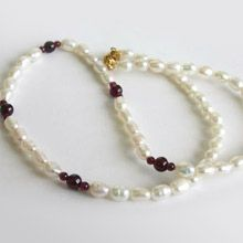 Single Line Rice Pearl Necklace - Sn48