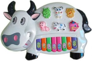 Toys (Misc) - Multicolor Plastic Musical Cow Piano For Kids