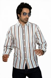 Moksh Striped Casual Cotton Shirt For Mens - (code - I0414ms09ls)
