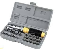 41 PCs Screwdriver Kit (tool Set With Bits And Sockets)