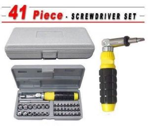 Globalepartner 41 PC Bit And Socket Screwdriver Set Tool Kit