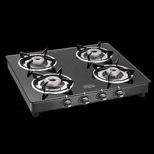 Burners - Padmini 4 Burner Gas Stove Cs-4Gt Prima Crystal Black