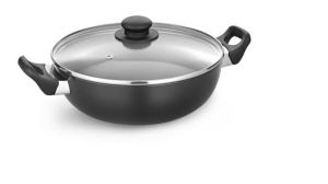 Induction cookware - Padmini Essentia Induction Base Hard Anodised Kadai With Lid