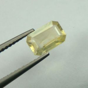 Lab Certified Top Grade 1.10cts Natural Yellow Sapphire/pukhraj