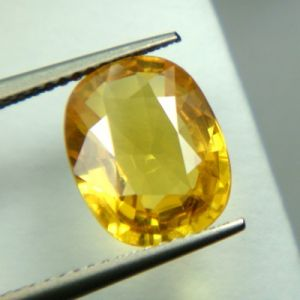 Lab Certified Top Grade 4.52cts Natural Yellow Sapphire/pukhraj