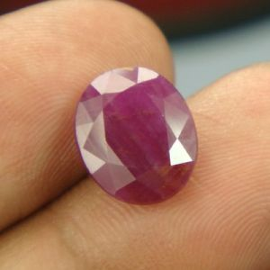 Lab Certified 4.93ct{5.47 Ratti}natural Untreated Ruby/manek(surya)