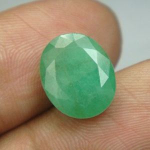 Emerald Stones - Lab Certified 5.01Cts Natural Untreated Emerald/Panna