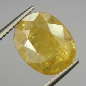Lab Certified Top Grade 5.40cts Natural Yellow Sapphire/pukhraj
