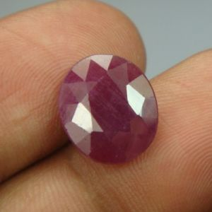 Lab Certified 5.54ct{6.15 Ratti}natural Untreated Ruby/manek(surya)