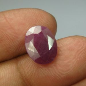 Lab Certified 5.75ct{6.38 Ratti}natural Untreated Ruby/manek(surya)