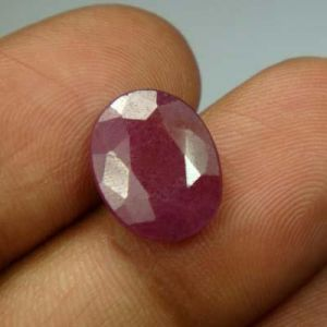 Lab Certified 5.88ct{6.53 Ratti}natural Untreated Ruby/manek(surya)