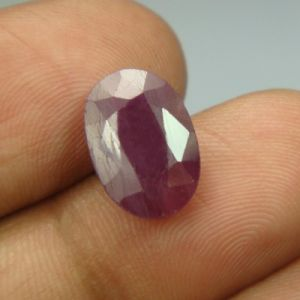 Lab Certified 5.94ct{6.60 Ratti}natural Untreated Ruby/manek(surya)