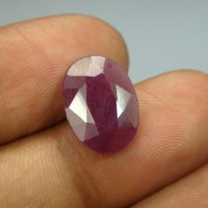 Lab Certified 6.07ct{6.74 Ratti}natural Untreated Ruby/manek(surya)