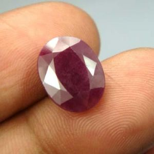 Lab Certified 6.29ct{6.98 Ratti}natural Untreated Ruby/manek(surya)